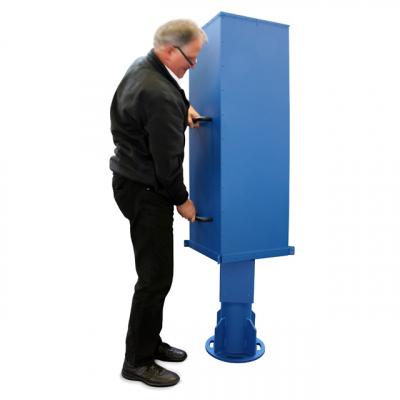 Schutzgehäuse für 800 mm Stahl,- und Betonsäulen