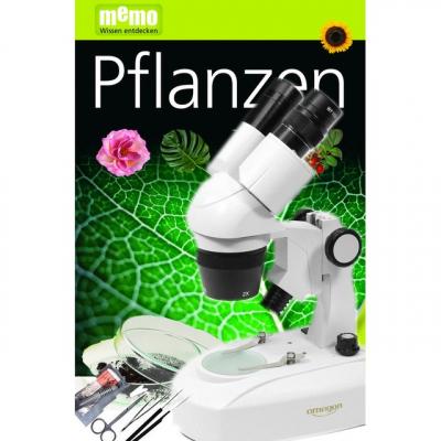 Omegon Stereomikroskop StereoView - Pflanzen-Set, Auflicht und Durchlicht, 80x