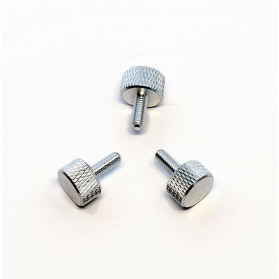 3 Rändelschrauben aus Aluminium in niedriger Bauform, M3x10