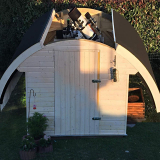 Teleskop Schutzhütte Oval 2,5 x 2,5m