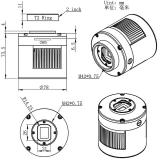 ZWO Color gekühlte Astro Kamera ASI 183MC Pro Sensor D=15.9mm