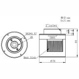 ASI174MCC gekühlte Farb-CMOS-Kamera - Chip D=13,4 mm