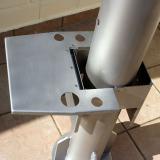 Klapptisch für Apollo Nivelliersäule (151mm) aus Alu