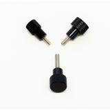 3 Rändelschrauben mit schmalem schwarzem Kopf in Hoher Bauform, M5x10 mm
