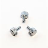 3 Rändelschrauben aus Aluminium in niedriger Bauform, M4x10