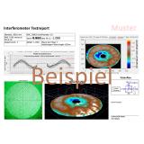 Interferometrische Vermessung gegen hochgenauen ZEISS Planspiegel (bis 140 mm Öffnung)