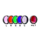 CCD Komplettfiltersatz I 1¼, L-RGB-C / H-alpha 7nm