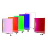CCD Komplettfiltersatz I 65x65mm, L-RGB-C / H-alpha 7nm