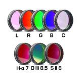 CCD Komplettfiltersatz II 1¼, L-RGB-C/H-alpha 7nm/OIII 8.5nm/SII 8nm